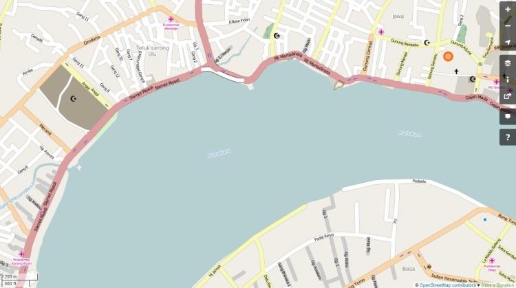 Jalan Utama di Samarinda (sumber: openstreetmap)