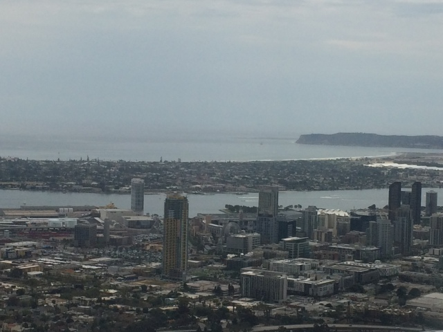 San Diego Bay, combined modern city and long history of navy infrastructure