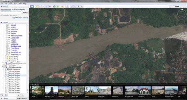 Batubara di sepanjang sungai Segah, wilayah Tangap