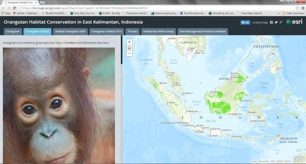 Story Maps Orangutan