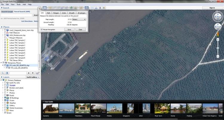 Lokasi Sawit di Pinggir Sungai di Riau
