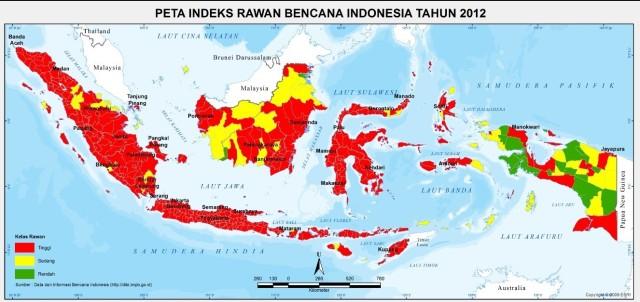 peta-indeks-rawan-bencana-Indonesia-tahun-2012